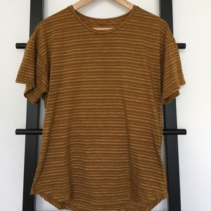 Madewell Striped Hi Low Perfect Everyday Tee